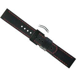 Pasek Suunto Elementum Terra Black/Red Leather Strap