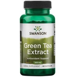 Swanson Green Tea Extract (zielona herbata) 500mg - (60 kap) Swanson Zielona Herbata (Green Tea) Extract 500 mg 60 (-15%)