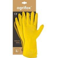 Rękawice robocze, Rękawice rękawiczki gumowe gospodarcze lateksowe OX-FLOX - M