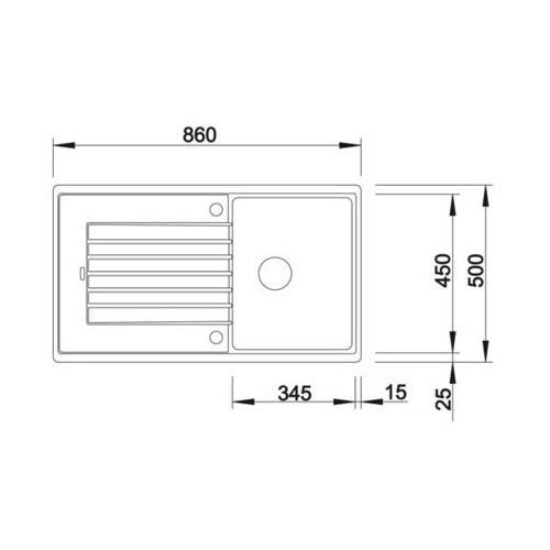 BLANCO ZIA 45 SL - Antracyt \ Automatyczny, 516738