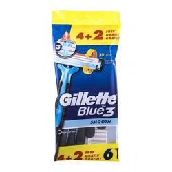 Gillette Blue3 Smooth maszynka do golenia 6 szt dla mężczyzn