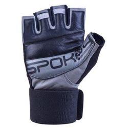 Rękawice fitness SPOKEY Guanto II Czarno-szary (rozmiar XL)