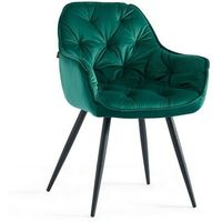 Krzesła, KRZESŁO TAPICEROWANE DC-9220 ZIELONY WELUR #36