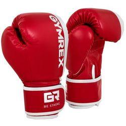 Rękawice bokserskie dla dzieci - biało-czerwone - 6 oz