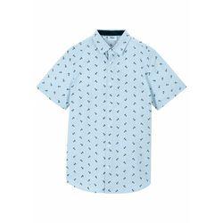 Koszula chłopięca z krótkim rękawem bonprix pudrowy niebieski