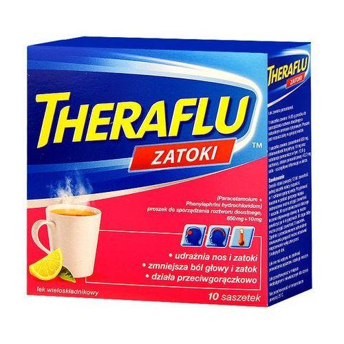 Leki na przeziębienie i grypę, Theraflu Zatoki 10saszetek