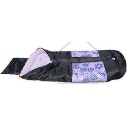 Śpiwór turystyczny kempingowy typu mumia dziecięcy 96x46 fioletowy