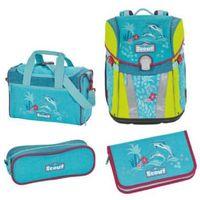 Tornistry i plecaki szkolne, SCOUT Sunny Plecak z akcesoriami szkolnymi, 4-częściowy - Happy Dolphins