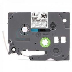 Taśma Brother TZe-S135 mocny klej przeźroczysta/biały nadruk 12mm x 8m zamiennik