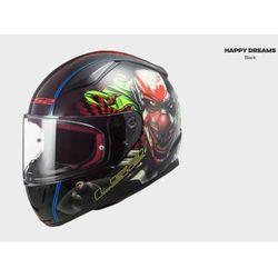 KASK MOTOCYKLOWY COMFORT LS2 FF353 RAPID HAPPY DREAMS BLACK nowość: 2021