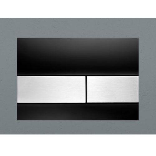 Tece przycisk spłukujący szkło czarne/przyciski szal szczotkowana TECEsquare 9240806