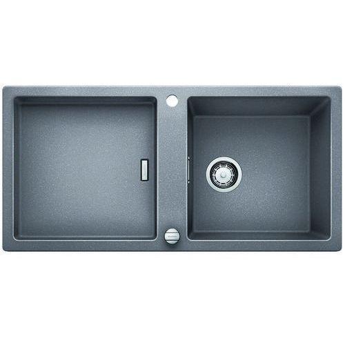 Adon XL 6S Blanco Siligranit zlewozmywak korek auto 980x480 alumetalik - 519619 (4020684608343)