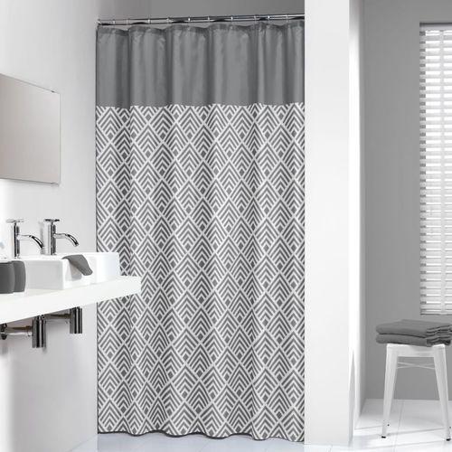 zasłona prysznicowa angoli, 180 cm, szara, 233561312 marki Sealskin