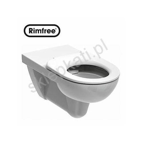 Koło nova pro bez barier rimfree miska wisząca bez wewnętrznego kołnierza - dla osób niepełnosprawnych, kolor biały m33520000 (5906976399870)