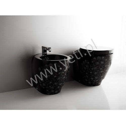 bohemien miska stojąca wc czarna z dekorem bo01 marki Simas