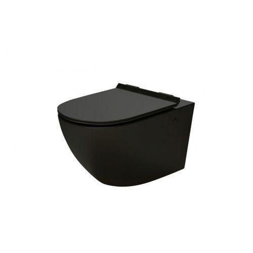 decos rimless miska wc wisząca z deską wolnoopadającą czarny mat msm-3673rimslim-mb marki Massi