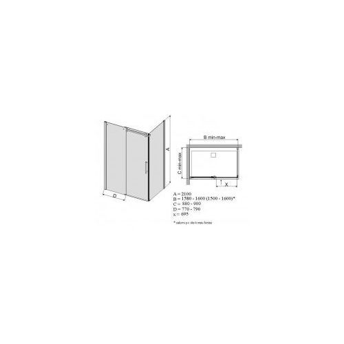 Sanplast Altus 90 x 160 (600-121-0950-42-491)