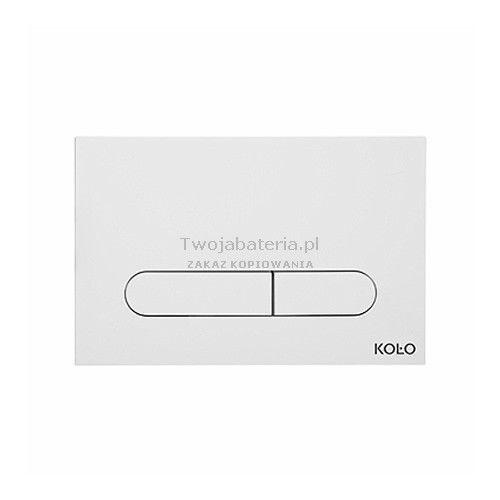 Koło slim2 przycisk spłukujący biały 94183001