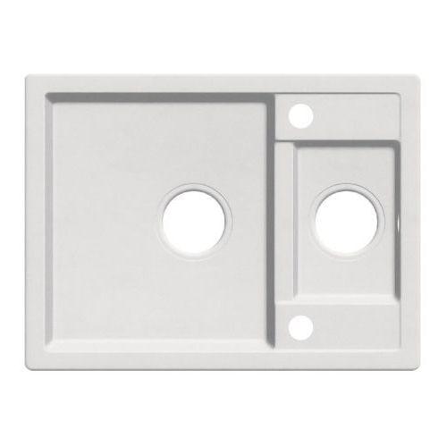 Zlewozmywak granitowy Cooke&Lewis Jayson 1 5-komorowy bez ociekacza biały, ZYL_A503