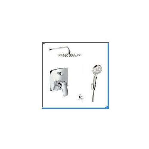 Zestawy Podtynkowy zestaw prysznicowy z baterią hansgrohe logis 71405000, chrom zest201