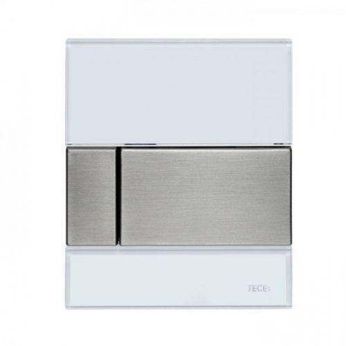 przycisk spłukujący do pisuaru square szkło białe przyciski stal nierdzewna 9242801 marki Tece