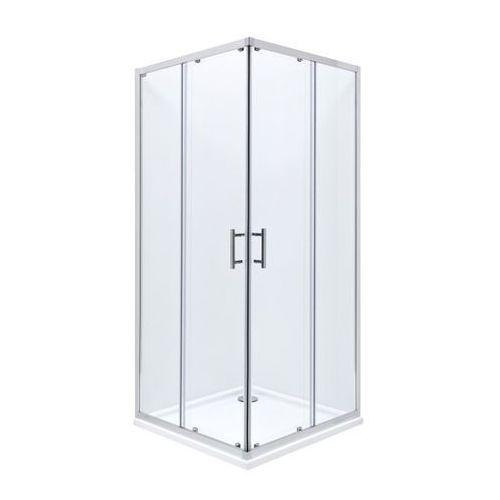 Roca Roca town square kabina 90x90x185 cm, profile aluminiowe chrom, szkło transparentne, z powłoką maxi clean amp160901m 90 x 90 (AMP160901M)