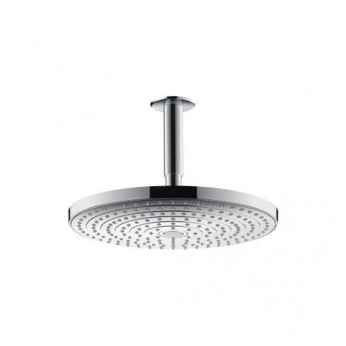 Głowica prysznicowa raindance select s 300 2jet z przyłączem sufitowym 100 mm dn15 chrom - 27337000 marki Hansgrohe