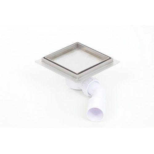 Kesmet wpust podłogowy 10x10cm 100x100KF_p Ceramic (syfon plastikowy), 100x100KF_pCeramic