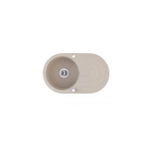 LAVEO DAFNE Zlewozmywak granitowy 78x47x19cm, granit beż SGD 481T, SGD481T