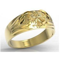 Węc - twój jubiler Sygnet złoty z orłem insigne sj-13z