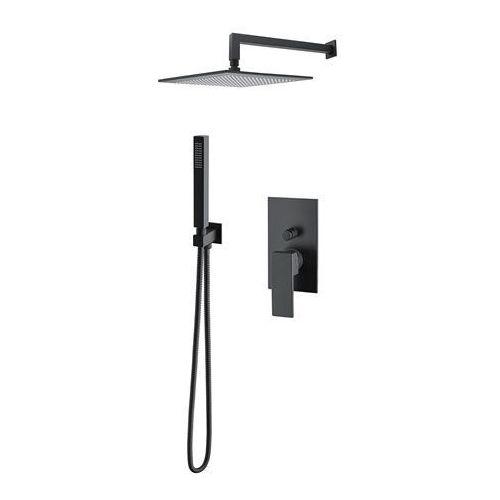 M&Z Cinque zestaw prysznicowy podtynkowy czarny mat CNQZES30/CZAR