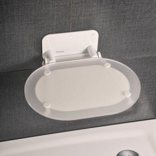 Ravak siedzisko prysznicowe Ovo Chrome Clear/white B8F0000028, B8F0000028