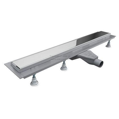 odpływ liniowy 90 cm steel z kołnierzem low olsl90stlow marki Schedpol