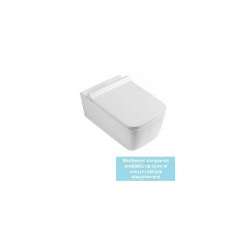 Cubic miska wc wisząca + deska duroplast wolnoopadająca slim marki Pozostali
