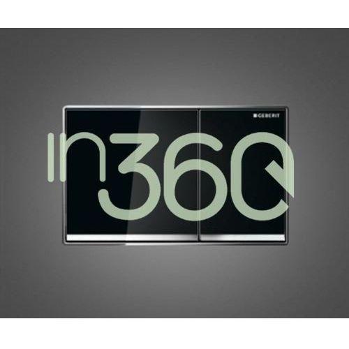 Geberit Omega60 Przycisk uruchamiający, przedni, czarny 115.081.SJ.1