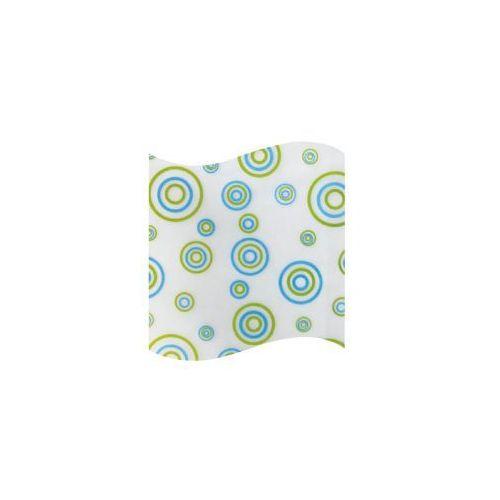 Awd interior zasłonka prysznicowa peva 180 x 180 cm zielone niebieski kółka awd02101108