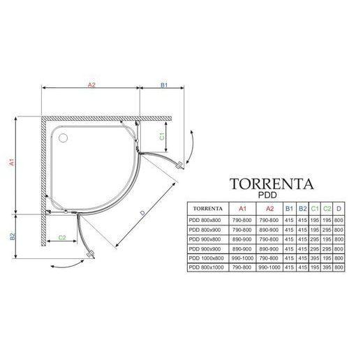 Radaway Torrenta pdd 100 x 80 (31640-01-01N)