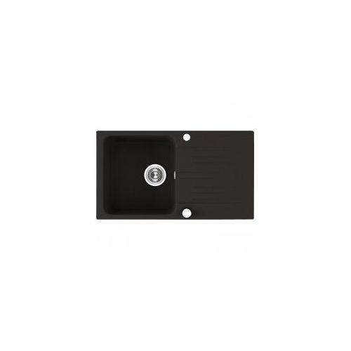 Laveo madagaskar zlewozmywak granitowy 78x44x17cm, granit czarny sgq 711t