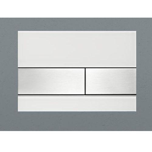 Tece przycisk spłukujący tecesquare szkło białe/przyciski szal szczotkowana 9240801