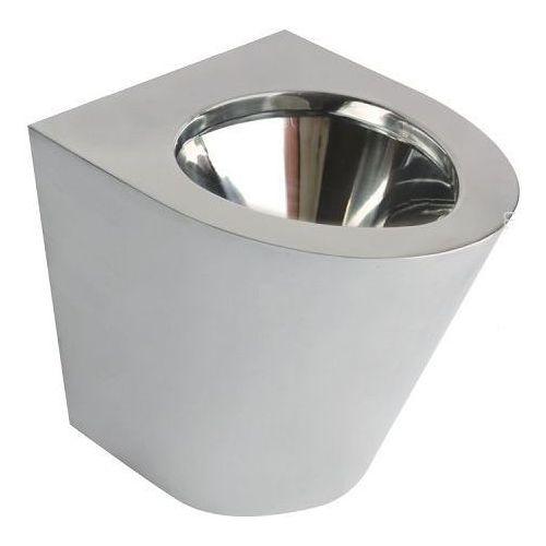 Miska WC stojąca ze stali nierdzewnej