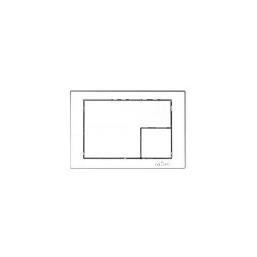 Cersanit przycisk link biały kwadrat k97-173
