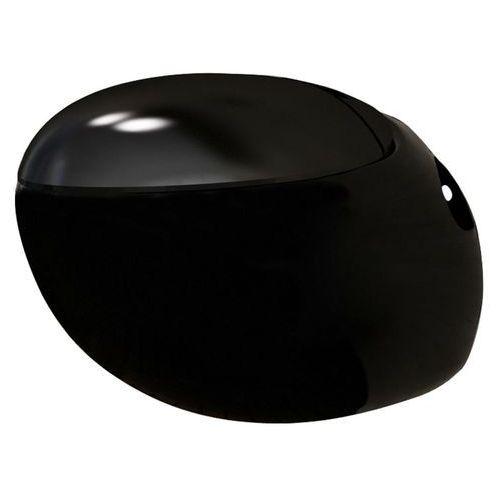 vidaXL Toaleta wisząca o oryginalnej formie jaja, czarna