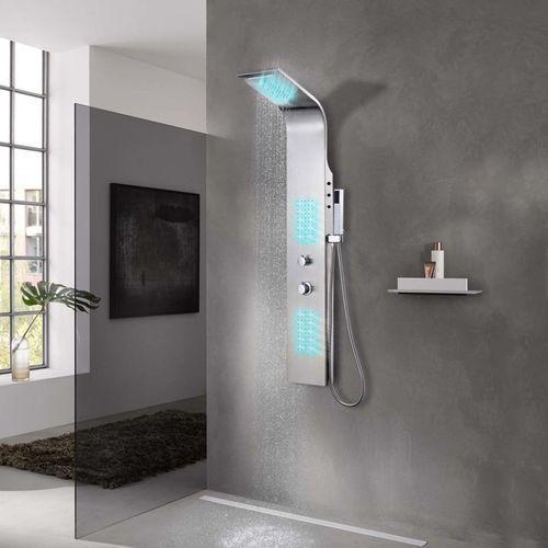 panel prysznicowy ze stali nierdzewne,j zakrzywiony marki Vidaxl