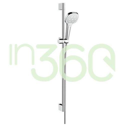 Hansgrohe zestaw prysznicowy croma select e multi, ecosmart 9 l/min, 0,90 m biały chrom 26591400
