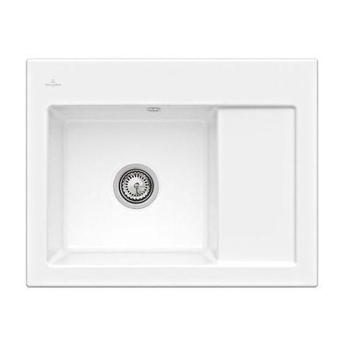 Zlew ceramiczny subway 45 compact - kg snow white (błyszczący) \ lewa \ manualny marki Villeroy & boch