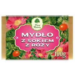 Mydło z Sokiem z Róży, kostka 100 g Dary Natury, 5902581616883