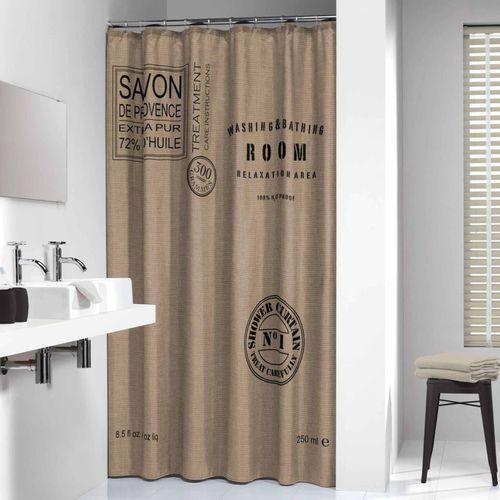 savon de provence linen zasłona prysznicowa tekstylna 180x200cm 233321366 marki Sealskin