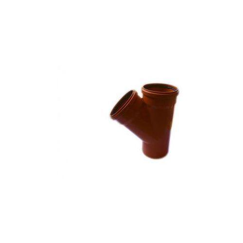 Poliplast Trójnik kanalizacji zewnętrznej kz 200 x 200 / 45° 200 / 200 mm