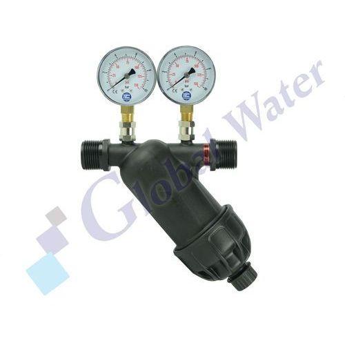 """Global water Filtr dyskowy azud 1"""" z miernikami ciśnienia"""