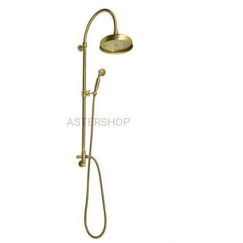 VANITY Zestaw natryskowy z rączką prysznicową do baterii podtynkowej brąz SET056